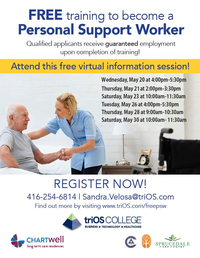 Personal Support Worker Training Information Sessions