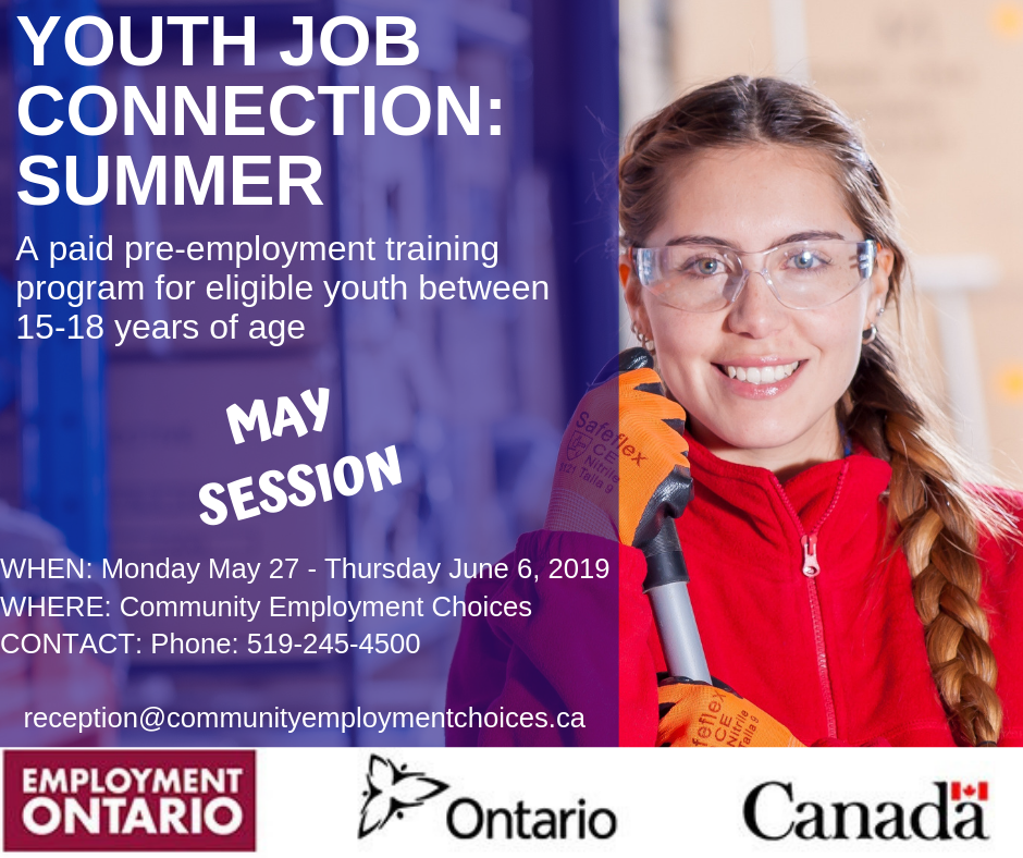 Youth Job Connection Summer program May 2019